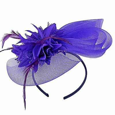 Acecharming Womens Wedding Cocktail Party Derby Fascinators with Hairclip