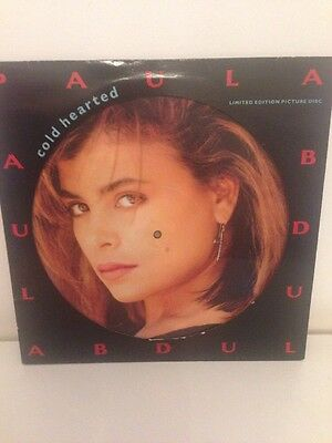 """Paula Abdul - Cold Hearted (12"""" Vinyl Record Picture Disc) Good Condition"""