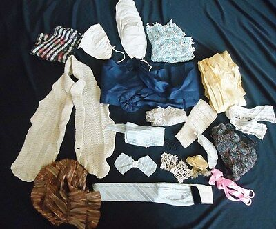 Large Lot of Antique 1900's Victorian Edwardian Ribbon Trim BUSTLE Pillows