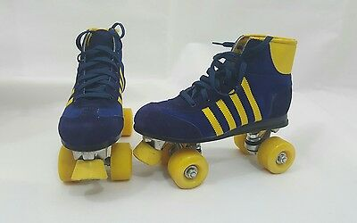 Retro Roller Skates Boots Size 6 Blue/yellow