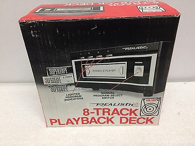 New Vintage Realistic 8 Track Play Deck Model 14-935 TR-169 Walnut Grained Vinyl
