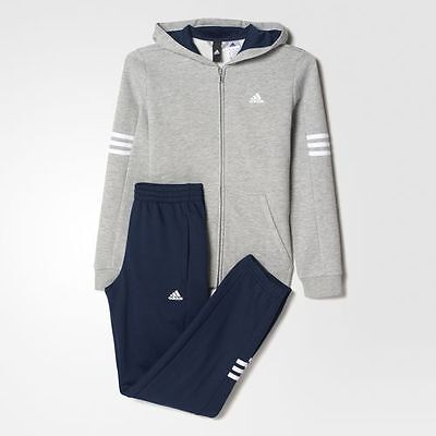 NUEVOS 19029 NIÑOS Adidas and CON CAPUCHA Adidas Hojo Fleece Track Suit Gray Nave and White da1fb30 - rogvitaminer.website