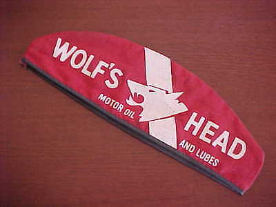 Vintage Wolf's Head Motor Oil and Lubes Gas Station Attendant Hat Size 7-3/8