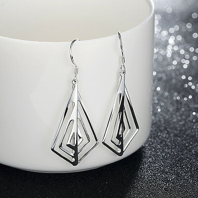 Trendy 925 Sterling Silver Filled Drop/Dangle Silver Earrings for Women Xmas