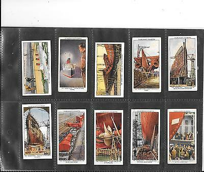 Churchman - The Queen Mary - Full Set Of 50 Cards In Sleeves - 1936
