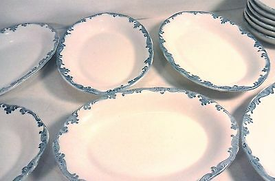 Vintage Union Pacific Railroad Ceramic Bowls Platters Scammell's Trenton China