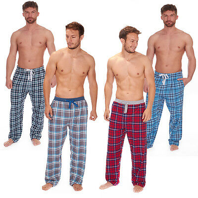 Cargo Bay Mens Check Lounge Pants Jacquard Elasticated Or Jersey Waist Band