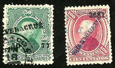 1874-80 Mexico Stamps #110 & #111 Both:  Used, H/HR