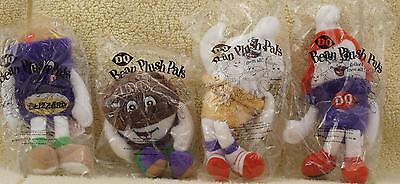 4 DQ Bean Plush Pals Dairy Queen Beanie Toys NEW in Packages 1999 complete set