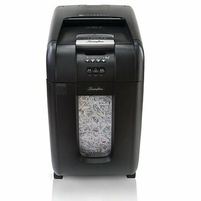 New Swingline Stack-and-Shred 300X Auto Feed Paper Shredder Cross-Cut 1757576C