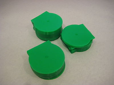CLAM SHELL CD 40 Pack 5 MM Green DVD Storage Cases New Plastic PVC Locking DVDR