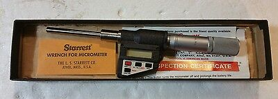 STARRETT No.762 DIGITAL ELECTRONIC MICROMETER HEAD WITH CARBIDE TIP