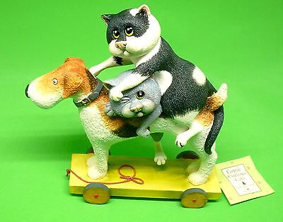 """Comic and Curious Cats Rare Figurine """" Two Terrors A7376 """" New in Box Free Ship"""