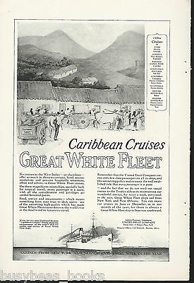 1924 GREAT WHITE FLEET advertisement, Caribbean Cruises, Natives