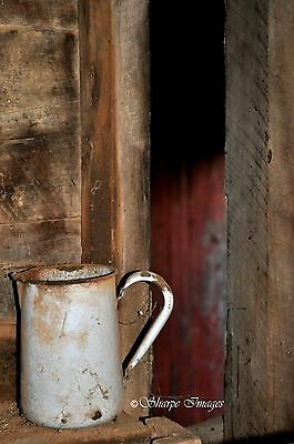 """Australian Country Rustic Scene Photograph with Old Jug 8 x 12"""""""