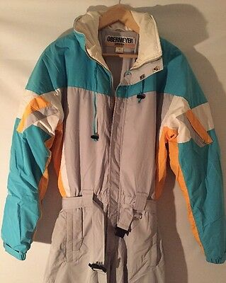 Vintage OBERMEYER Mens L Onesie ONE PIECE Snow SKI Suit Snowsuit  Full Body