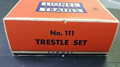 With Box Lionel Elevated Trestle Set No. 111