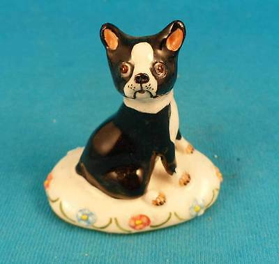 Basil Matthews signed BOSTON TERRIER dog England FREE SHIPPING vintage puppy