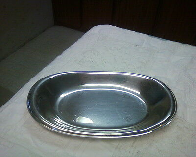 """Wilcox International Silver Co Silverplated Casual 5519 Oval Bread Tray 11.5""""L"""