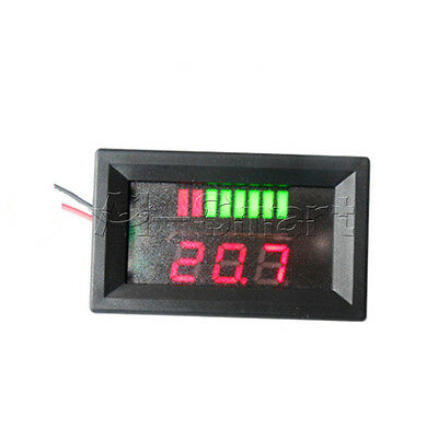 New Charge Level Red Indicator Voltmeter for 6V 48*29*21 mm Lead-acid Battery