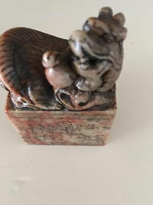 vintage Chinese zodiac seal chop stamp /soapstone