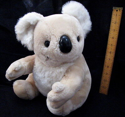 "11"" Sitting Koala Beige Bear Hard Plastic Nose"