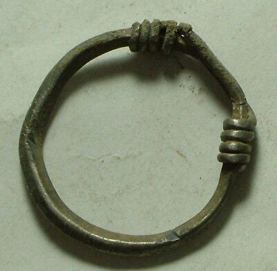 Rare Genuine Ancient Roman Silver twisted Earring artifact intact 1 century AD