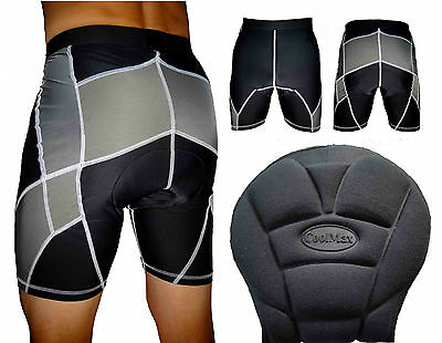 Cycling Shorts with Pads Mens Womens Size XS & Small Black & Grey Padding Sports