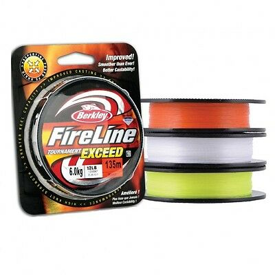 Berkley FireLine Tournament Exceed PE Braid CRYSTAL Colour 135m/150yds ALL SIZES