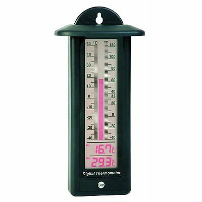 Electronic Digital Max Min Thermometer  ideal for Greenhouse and Conservatory