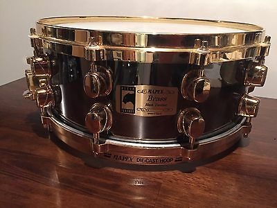 Mapex black panther brass snare 5.5 x 14 die-cast hoops