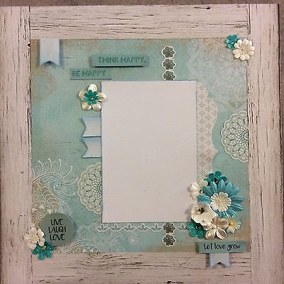 handmade scrapbook page 12 X 12 Let Love Grow Themed Layout