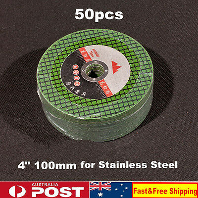 "50x 100mm 4"" CUTTING DISC WHEELs Thin Metal Cut off Flap Angle Grinder Steel  AU"
