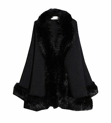 Womens Faux Fur Wrap Shawls for Wedding Dresses and Party Winter Capes