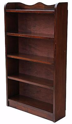Antique quality Victorian style mahogany open bookcase display shelves