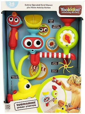 Submarine Spray Station Water Pump Battery Operated Hand Shower Baby Bath Toys