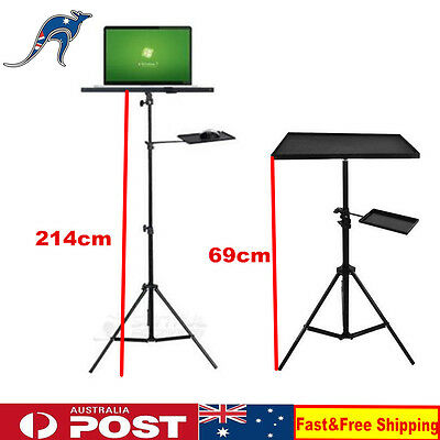 Tripod Laptop Adjustable Stand With A Tray ForComputer Projector Holder AU Stock