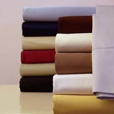 Luxury Attached Waterbed Solid Sheets 100 Cotton 300 Thread Count Sheet Set