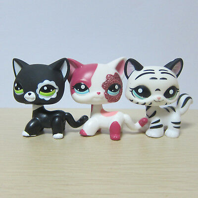 3X Hasbro Littlest Pet Shop LPS Toy #1498 #2291 #2249 Walking Kitty Cat Rare