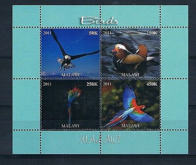 Bloc Sheet Oiseaux Birds Neuf MNH ** Malawi 2011  Private local/issue