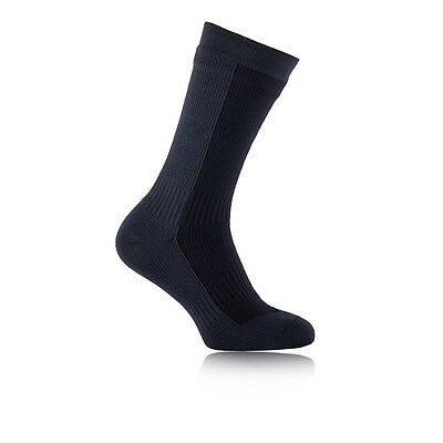 Sealskinz Mid Hombre Gris Negro Impermeable Caminar Hiking Largo Calcetines
