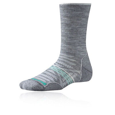 Smartwool Phd Exterior Ligero Crew Mujer Gris Caminar Hiking Largo Calcetines