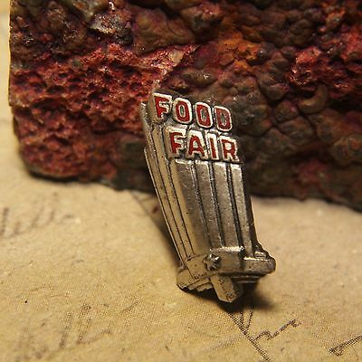 Vintage Food Fair Grocery Store Sterling Silver 925 Advertising Pin - 1.5g