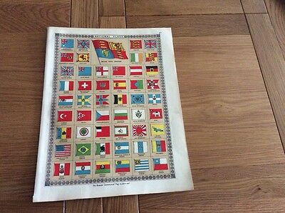 1920 Print from Bacons Atlas NAtional Flags