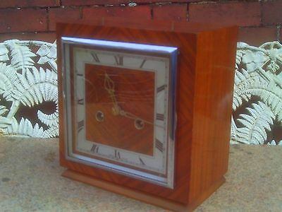 Antique Smiths Art Deco Mantle Clock in Square Case. Overhauled in GWO.