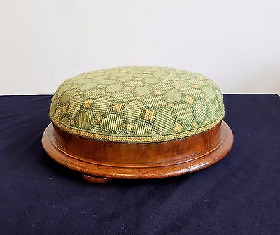 Antique Footstool, Victorian Upholstered Foot Rest