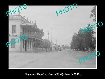 OLD LARGE HISTORICAL PHOTO OF SEYMOUR VICTORIA, VIEW OF THE EMILY St c1930s