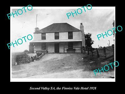 Old Large Historical Photo Of Second Valley Sa, The Finniss Vale Hotel 1928