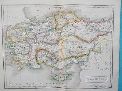 Map of Ancient Asia Minor. 1826. Butler. Sidney Hall. TURKEY. MIDDLE EAST