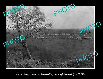 OLD LARGE HISTORIC PHOTO OF LAVERTON WESTERN AUSTRALIA, VIEW OF TOWNSHIP c1920